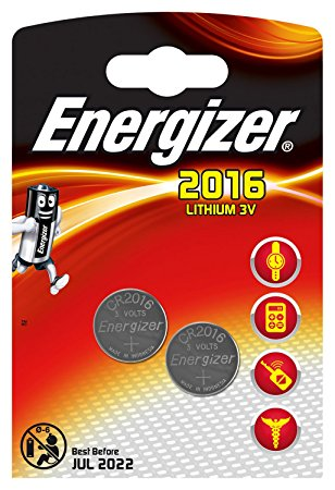Energizer 2016 Lithium 3V Button Cell Battery