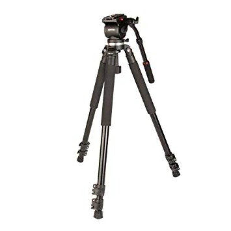 Kenro Standard Video Tripod Kit (Aluminium) with VH01B Fluid Head (Ball Base)