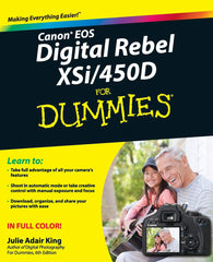 Used Canon EOS Digital 450D for Dummies Book