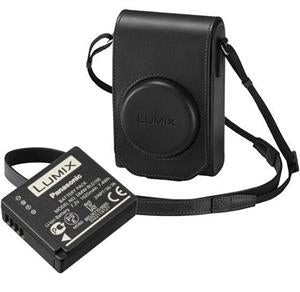 Panasonic TZ100 Leather Case and Battery Kit - Black