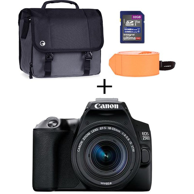 Canon EOS 250D Digital SLR 18-55mm IS STM Bundle kit - Black