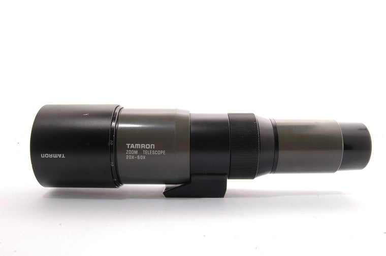 Used Tamron 20x-60x Catadioptric Zoom Spotting Scope - T Mount required for camera.