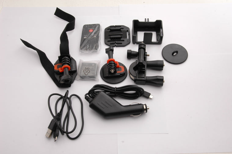 Used GoXtreme Wifi View Action Cam Kit - Camera Missing