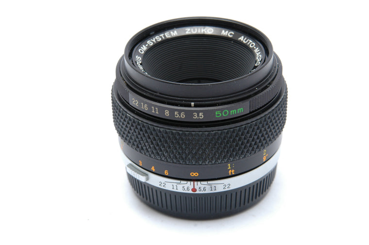 Used Olympus OM Zuiko Auto-Macro 50mm f/3.5  Manual Focus Lens