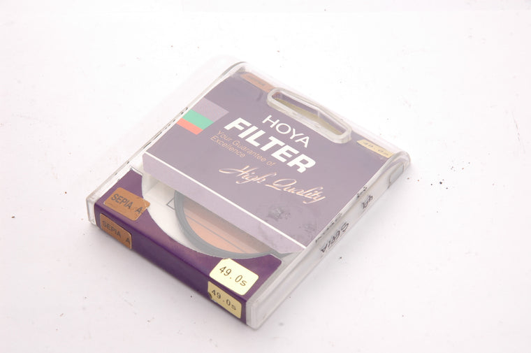 Used Hoya Sepia A 49mm Filter (Sealed)