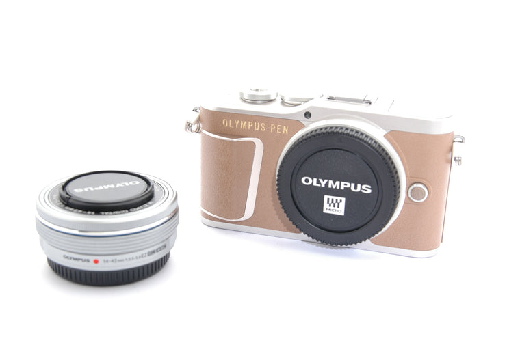Used Olympus Pen E-PL9 with ED 14-42mm f/3.5-5.6 EZ Lens - Brown
