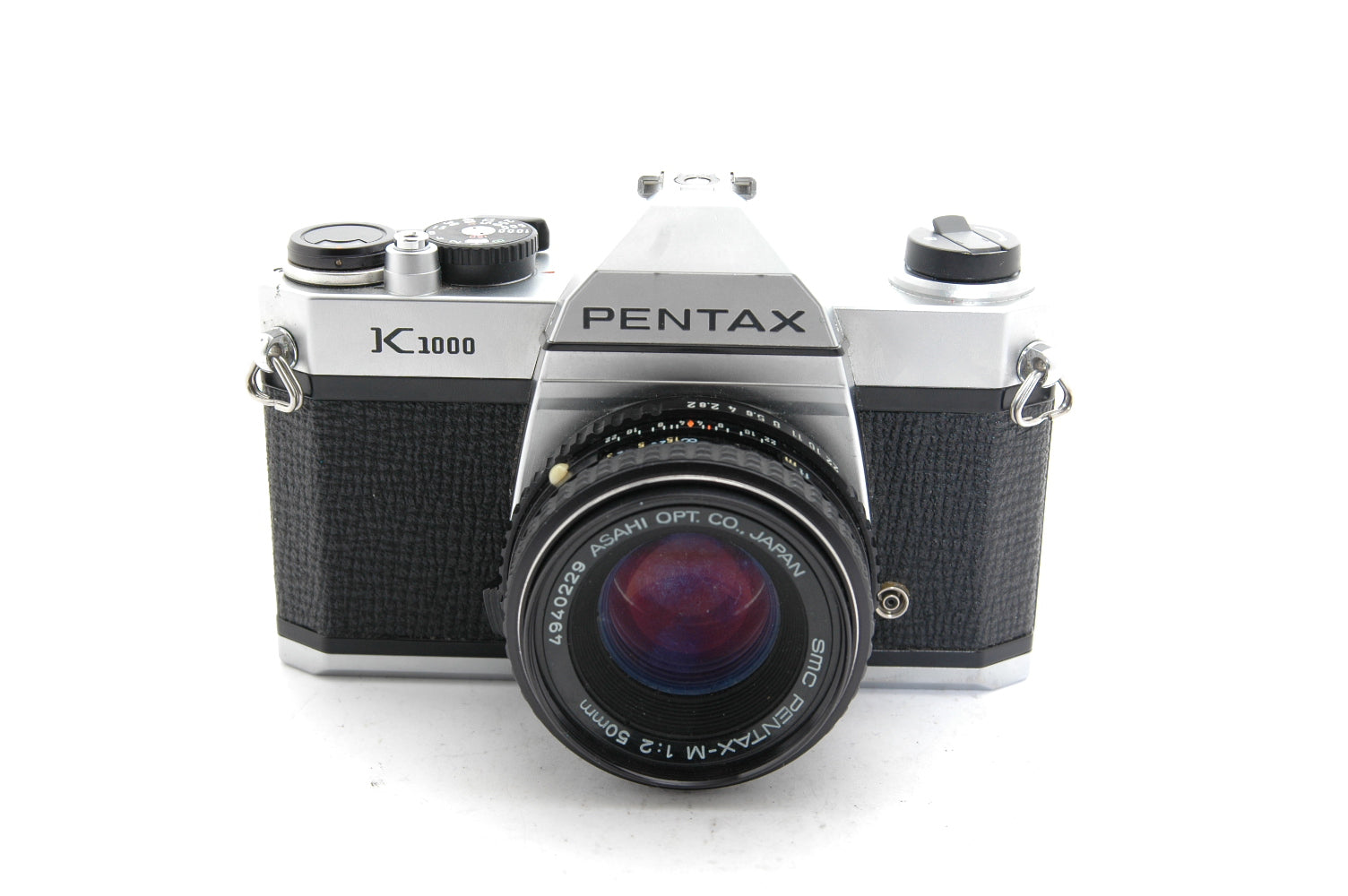 Used Pentax K1000 with 50mm f2 Lens