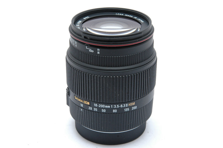 Used Sigma 18-200mm f3.5-6.3 II  DC OS Lens For Canon Mount