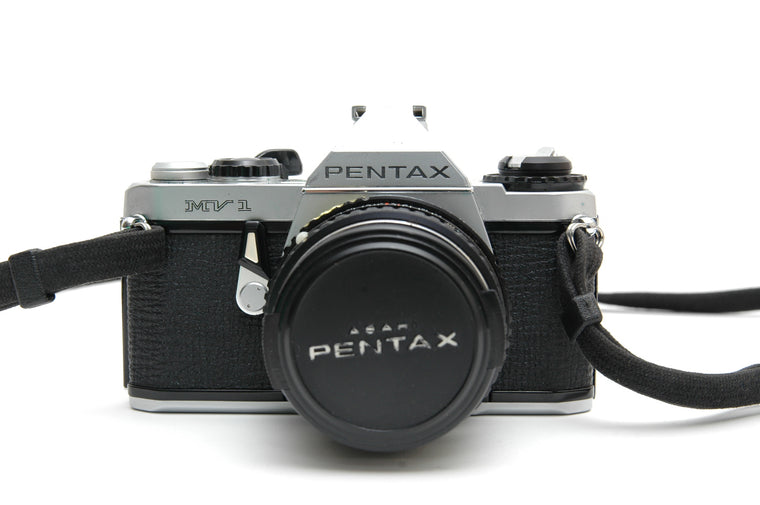 Used Pentax MV-1 35mm Film Camera with 50mm f1.7 Lens