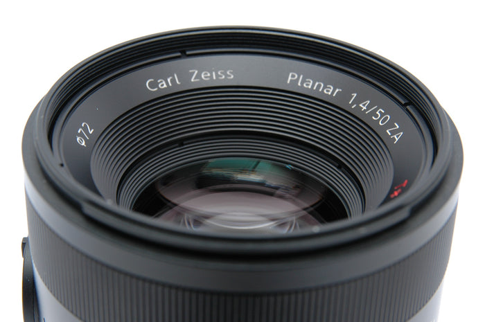 Used Sony 50mm f1.4 Zeiss Planar T* ZA SSM Lens - Sony A Mount