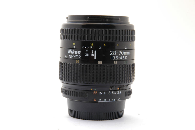 Used Nikon 28-70mm f/3.5-4.5 AF and AF-D Lens