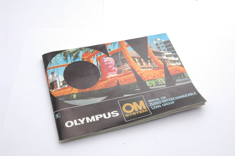 Used Olympus System Manual for Zuiko Interchangeable Lenses Booklet