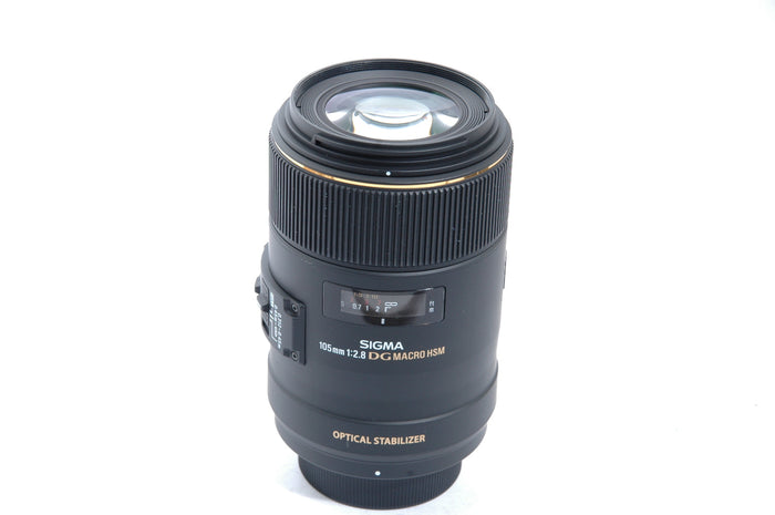 Used Sigma 105mm f2.8  EX DG OS HSM Macro Lens for Nikon