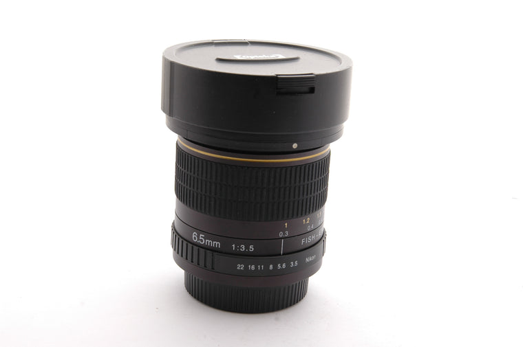 Used Opteka 6.5mm f3.5 Fisheye Lens for Nikon