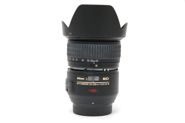 Used Nikon AF-S 24-120mm f/3.5-5.6G IF-ED VR Lens with Issues