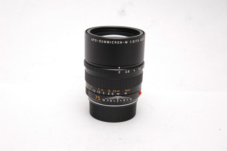 Used Leica APO-Summicron-M 75mm f2 ASPH Lens