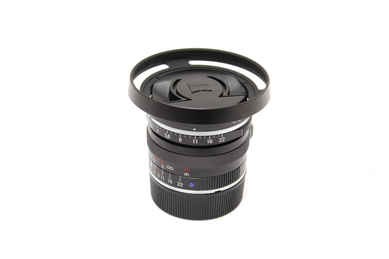 Used Carl Zeiss Biogon T* f2 8 28mm ZM with Zeiss Lens Shade