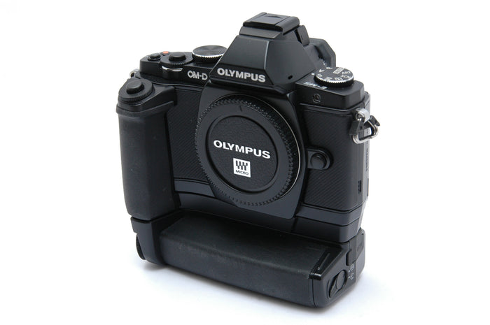 Used Olympus E-M5 Mirrorless Camera with HLD-6 Power Battery Holder