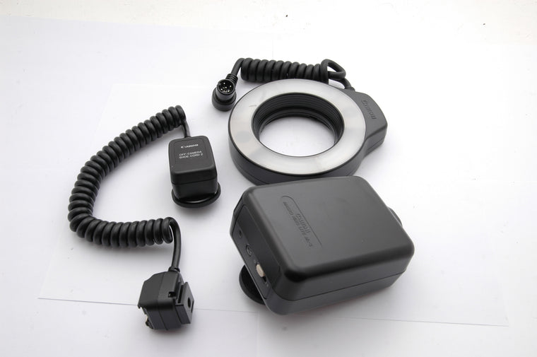 Used Canon Macro Lite ML-3 Ring Flash, with Shoe Cord