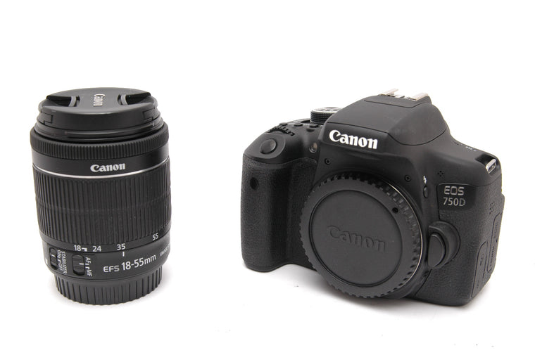 Used Canon EOS 750D with EF-s 18-55mm IS STM Lens