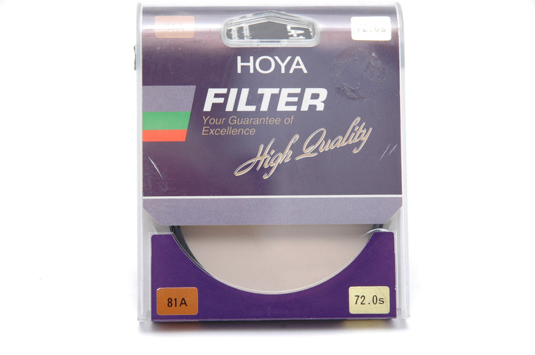 Used Hoya  72mm 81A filter