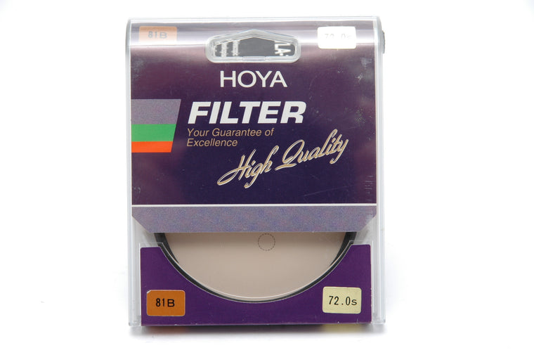 Used Hoya  72mm 81B filter