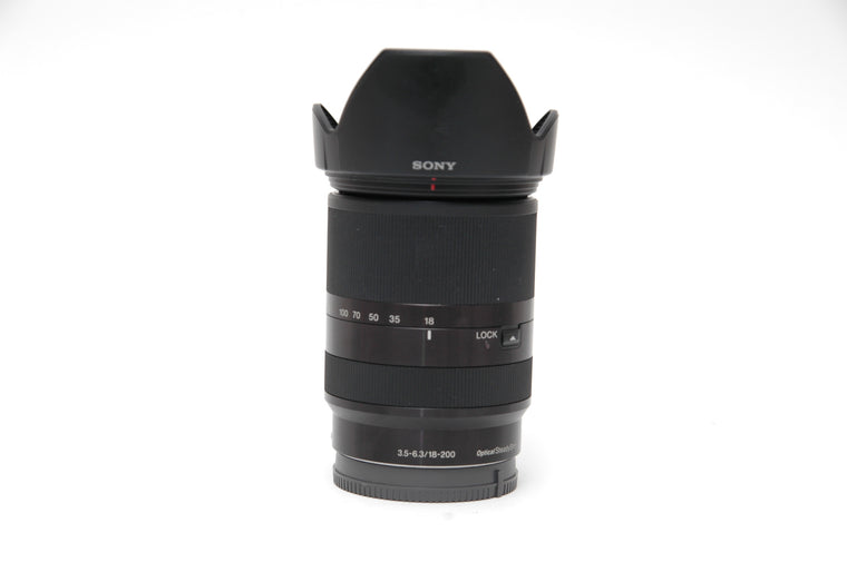 Used Sony E 18-200mm f/3.5-6.3 LE OSS Lens