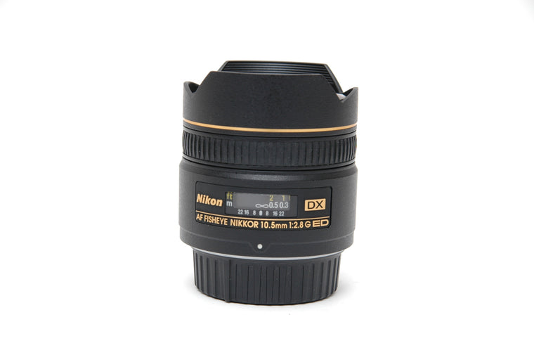 Used Nikon AF 10.5mm f/2.8G ED DX Fisheye Lens