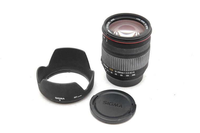 Used Sigma 18-200mm f/3.5-6.3 DC, Nikon Fit Lens