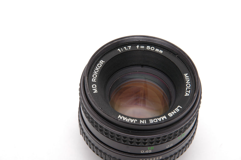 Used Minolta MD 50mm  f1.7 Manual Focus Lens