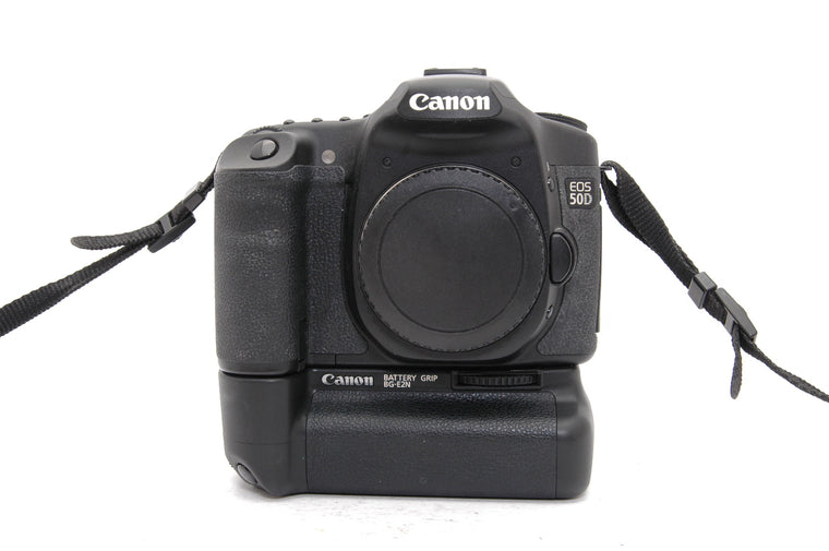 Used Canon EOS 50D Camera Body with Battery Grip - Black