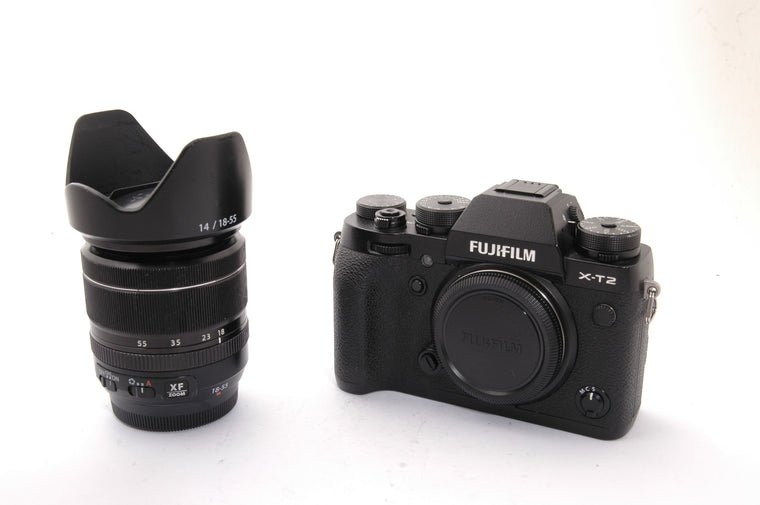 Used Fujifilm X-T2 Camera with 18-55mm f2.8-4 Lens
