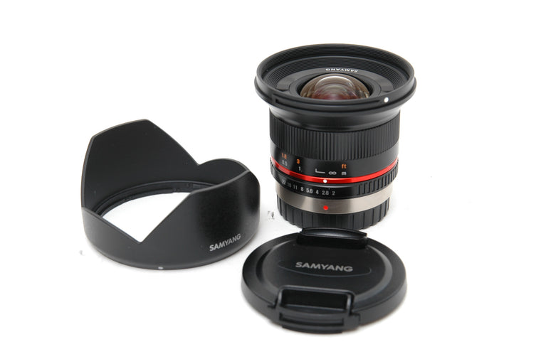 Used Samyang 12mm f/2.0 NCS CS lens for Micro 4/3