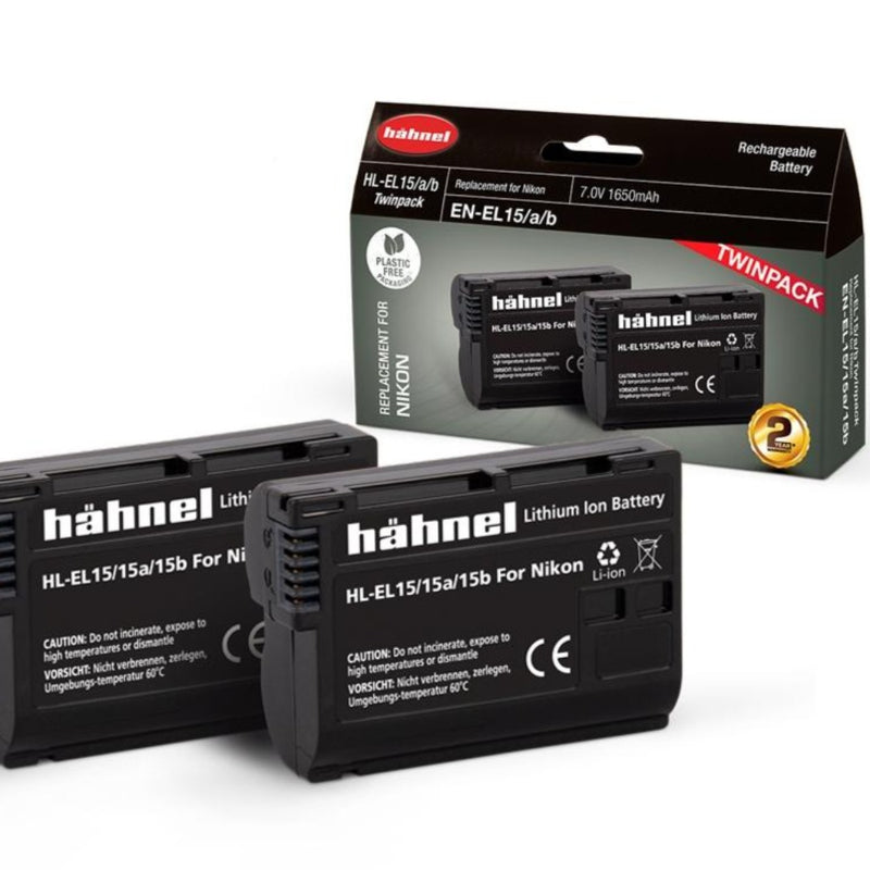 hahnel HL-EL15/15A/15B TWIN PACK