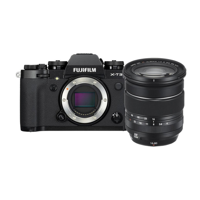 Fujifilm X-T3 with XF 16-80mm Lens - Black