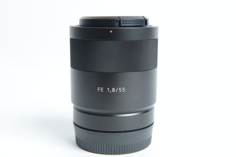 Used Sony Carl Zeiss Sonnar T* FE 55mm f/1.8 ZA Lens