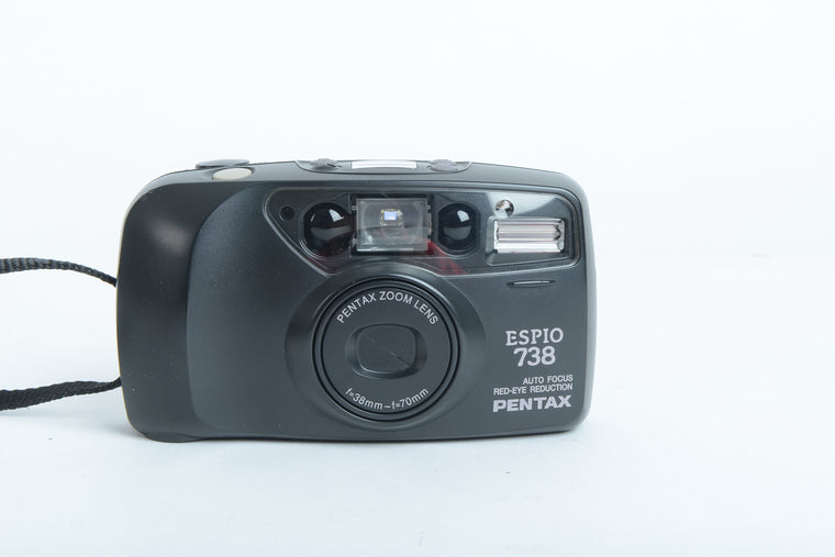 Used Pentax Espio 738 35mm Film Camera - Black