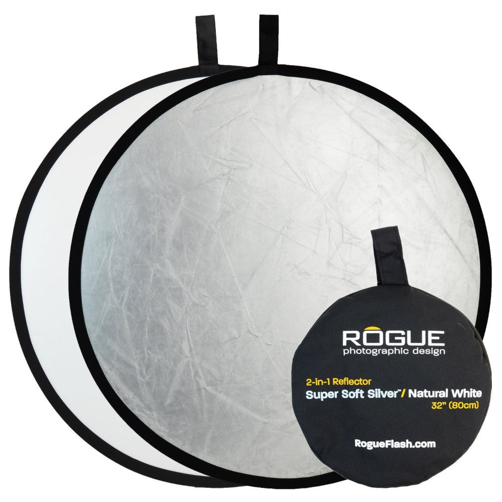 Rogue 80cm 2-in-1 Reflector - Super Soft Silver/Natural White