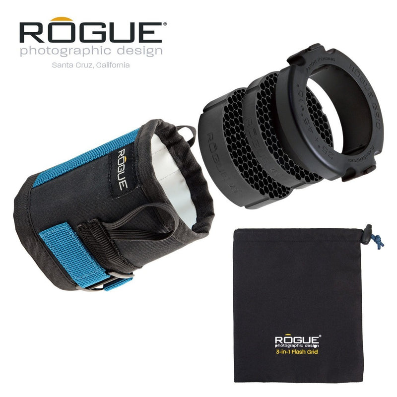 Rogue 3-in-1 Flash Grid with 3-Gel Starter Set
