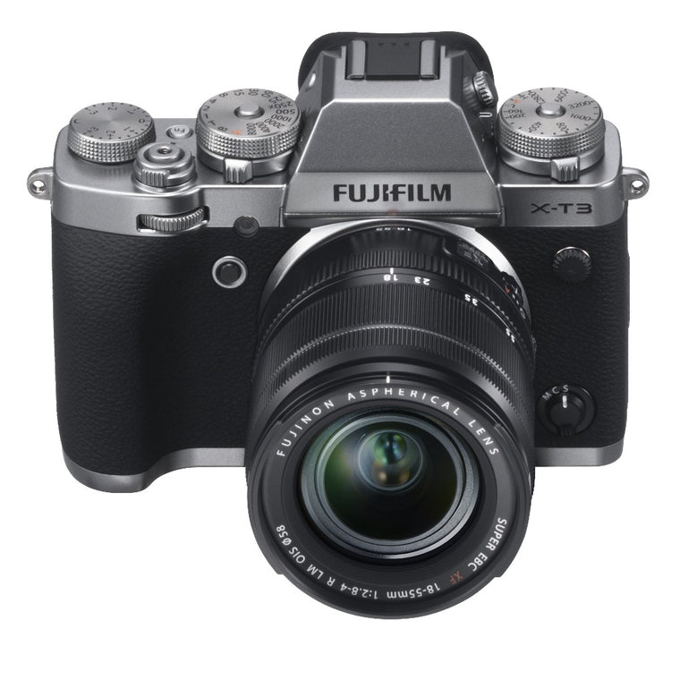 Fujifilm X-T3 Digital Camera with XF 18-55mm Lens - Silver