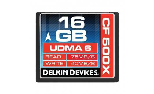 Used Delkin Select 16GB 500X UDMA 6 Compact Flash