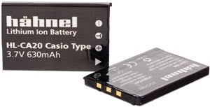 Hahnel HL-CA20 3.7v 600mAh - Casio NP-20 Replacement Battery