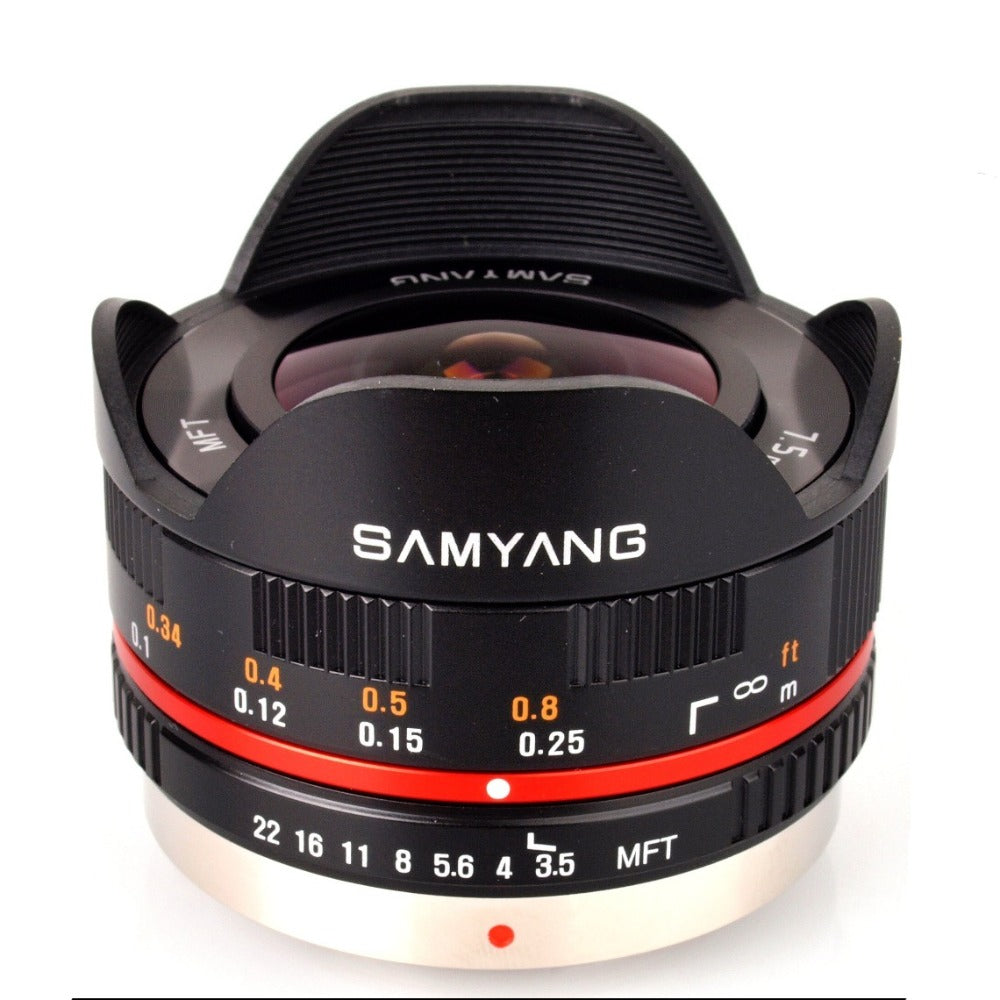 Samyang 7.5mm f3.5 UMC Fish-Eye Lens - Black - Micro Four Thirds
