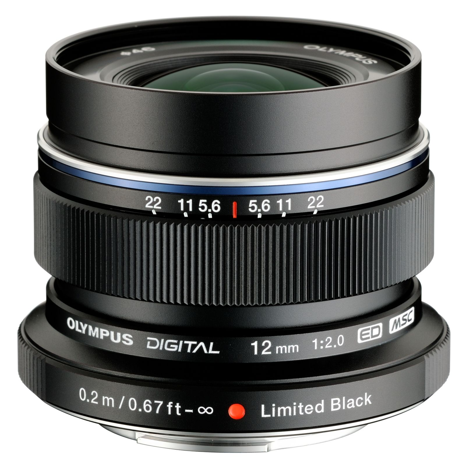 Olympus 12mm f2.0 ZUIKO Digital ED Micro Four Thirds lens - Black