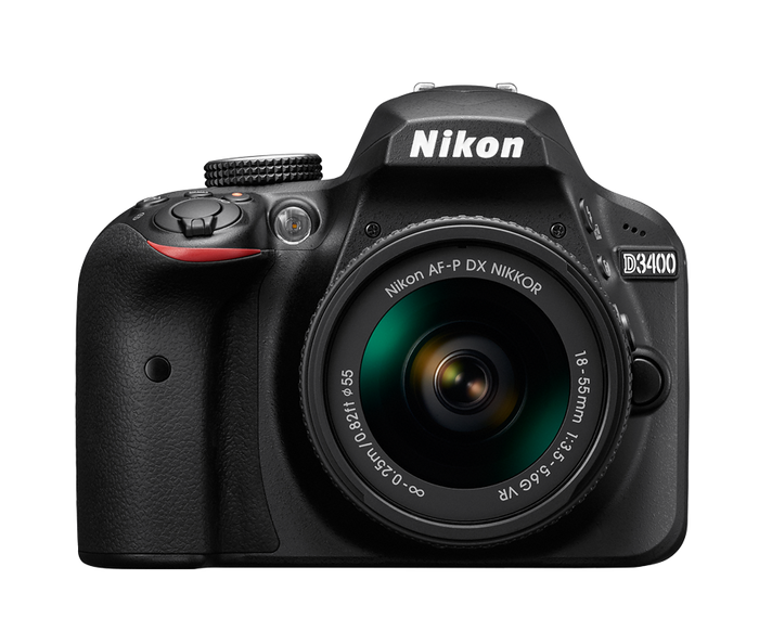 Nikon D3400 DSLR Camera 18-55 AF-P Kit - Refurbished