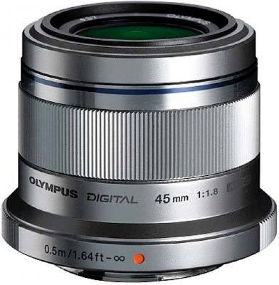 Olympus 45mm f1.8 M.ZUIKO Digital Micro Four Thirds lens - Silver