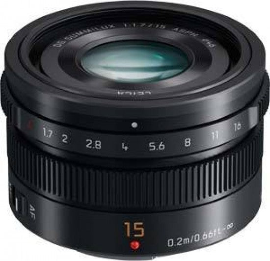 Panasonic 15mm f1.7  Leica Summilux DG ASPH Micro Four Thirds Lens - Black