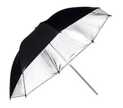 "33"" Silver & Black Reflective Umbrella"