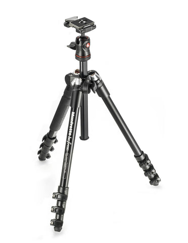 Manfrotto BeFree Aluminium Travel Tripod with ball head - Black - Cambrian Photography - 1