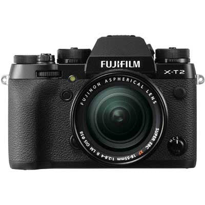 Fuji X-T2 Digital Camera Body w/18-55mm f2.8-4 - Black - Cambrian Photography - 1